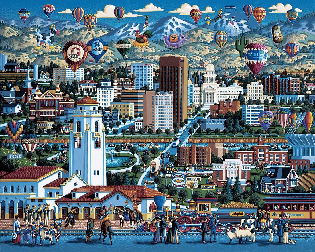 Lionheart Designs International Cities States Jigsaw