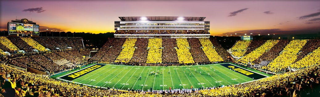 Jigsaw puzzle NCAA University of Iowa Kinnick Stadium NEW ...