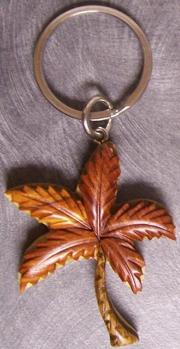 Intarsia Solid Wood Key Ring Tropical Palm Tree New Ebay